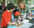 Naturalist working with children